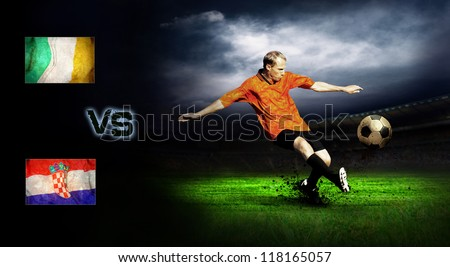 Friendly soccer match between Ireland and Croatia - stock photo