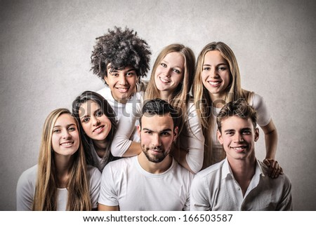 Friendly Teenagers - stock photo