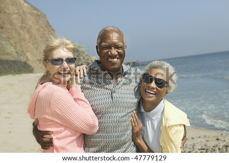 Friends at Beach - stock photo