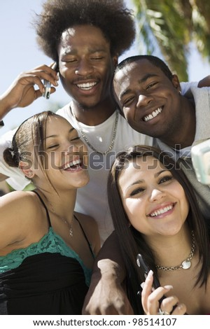 Friends Hanging Out Together - stock photo