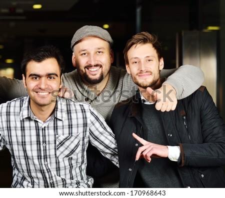 Friends portrait of diversities - stock photo