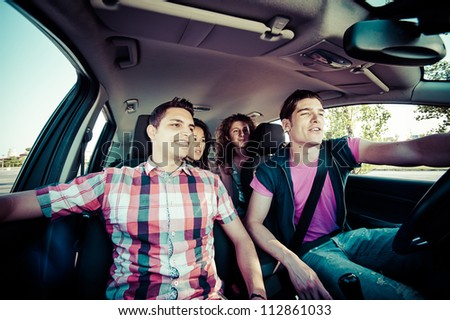 Friends Ready for Vacations,Italy - stock photo