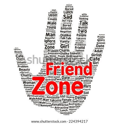 Friendzone word cloud shape concept - stock photo