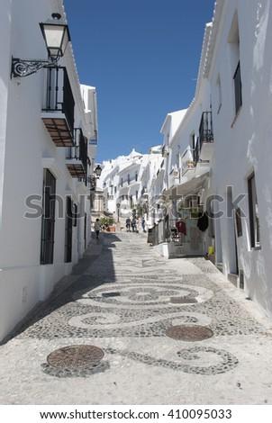 Frigiliana in Malaga, Andalusia, Spain - stock photo
