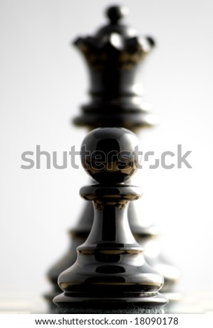 From pawn to queen - stock photo