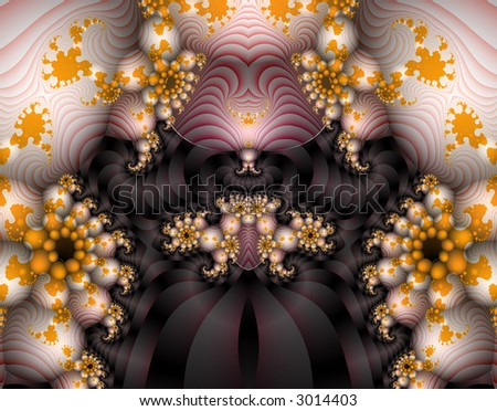 From SCI-FI series Alien Pop Art . Glowing  abstract fractal background featuring alien creativity with splash of vivid colors and optical illusion . - stock photo