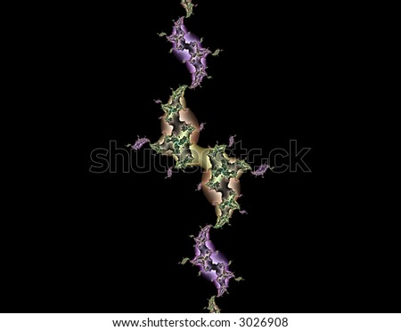 From SCI-FI series Alien Pop Art . Glowing  abstract fractal background featuring alien DNA . - stock photo