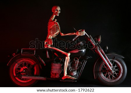 From the Gates of Hell rides Death looking for his next conquest! - stock photo