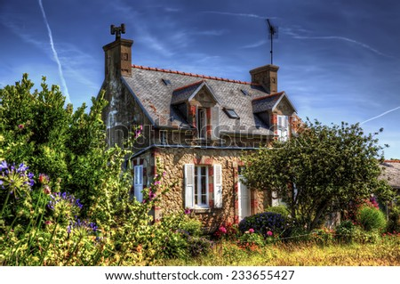From the Island of Brehat, Brittany - stock photo