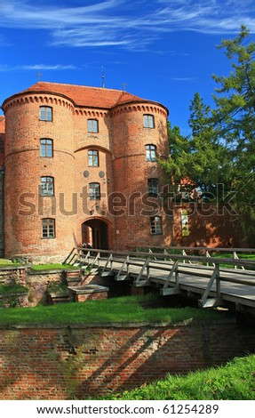 Frombork Cathedral, a place where he worked Copernicus. - stock photo