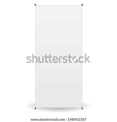 front banner x-stands display isolated - stock photo