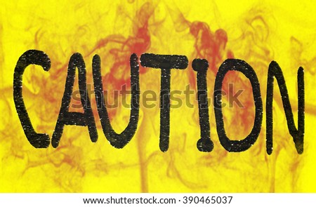 front caution icon. Danger and hazard, attention symbol - stock photo
