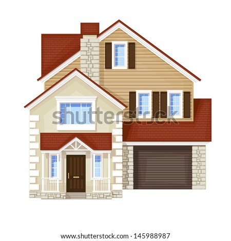 front door house - stock photo