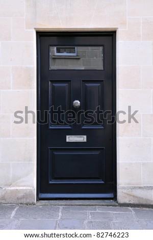 Front Door of a Georgian Era House - stock photo