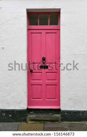 Front Door of a Georgian Era London Town House - stock photo
