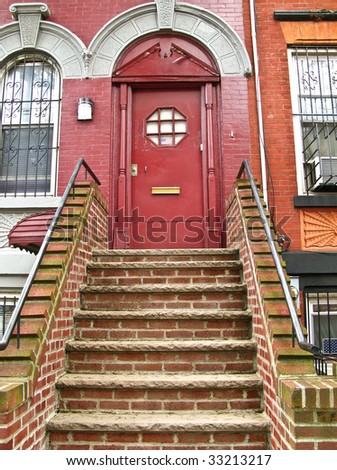 front door to a house in America - stock photo