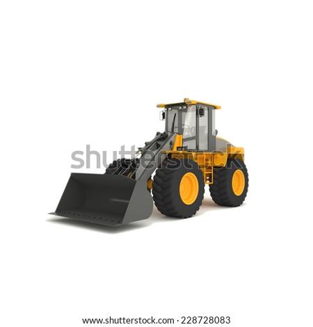 Front-end loader  - stock photo
