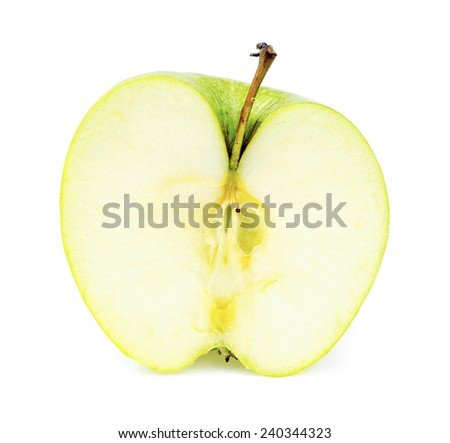 Front inside view of tasty juicy apple - stock photo