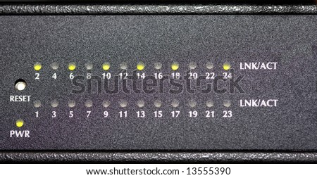 front panel of switch - stock photo