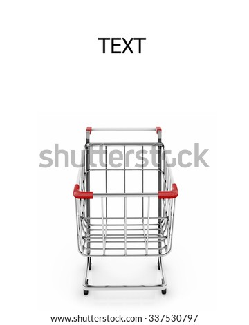 front shopping cart 3d render - stock photo