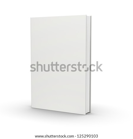 front view of blank book  on white background - stock photo