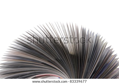 front view of magazine Roll isolated on white - stock photo