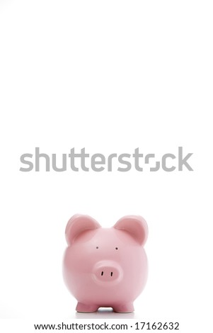 Front View Of Piggy Bank - stock photo