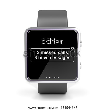 Front view of smart watch - stock photo