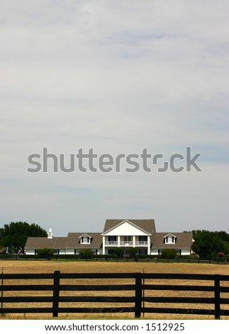 Front view of Southfork Ranch - stock photo
