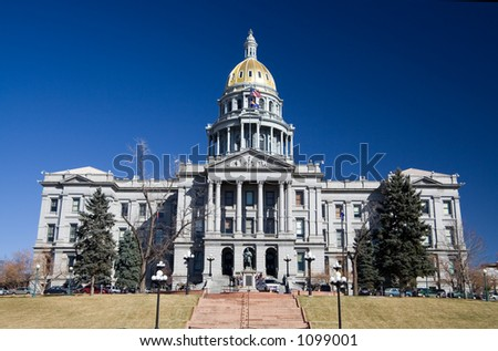 Front view of the Colorado State Capitol. - stock photo