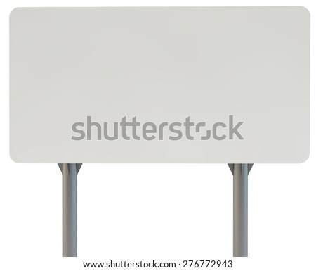 frontal look a street advertizing billboard on racks with the concrete bases - stock photo