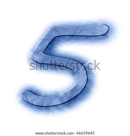 frost font: five - stock photo