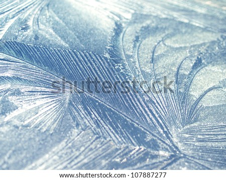 Frost natural pattern - stock photo