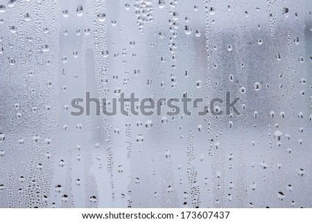 frost on the glass - stock photo