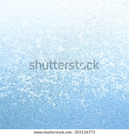 Frosty winter background photo of ice on a window - stock photo