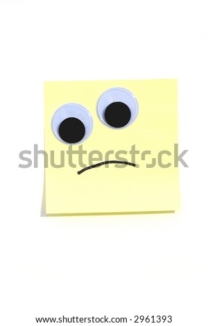 frown - stock photo