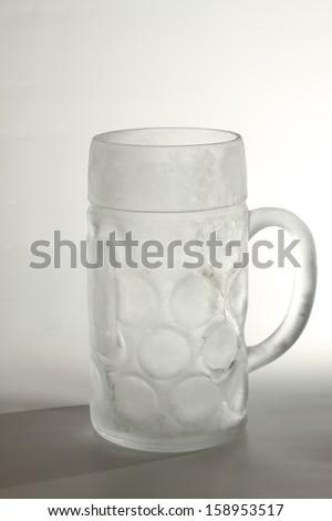 frozen beer mug - stock photo