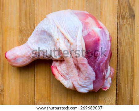 Frozen chicken. - stock photo