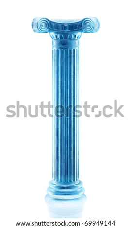 Frozen column sculpture - stock photo