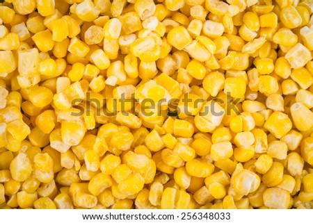Frozen corn background - stock photo
