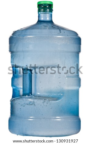 Frozen Crystal Blue 5 Gallon Water Container - stock photo