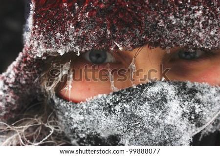 Frozen face - stock photo