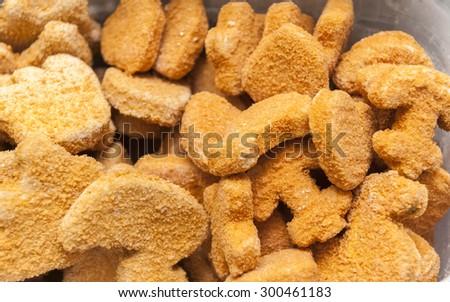 frozen fish sticks - any shape - stock photo