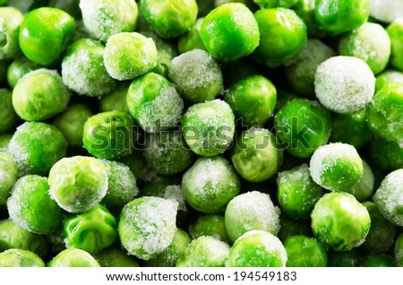 Frozen food(vegetable).Green peas. - stock photo