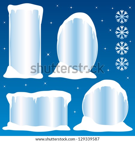 Frozen frames collection II. Commercial stickers or banners. - stock photo