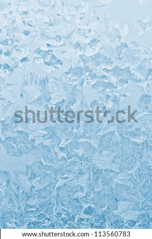 Frozen glass abstract winter background - stock photo
