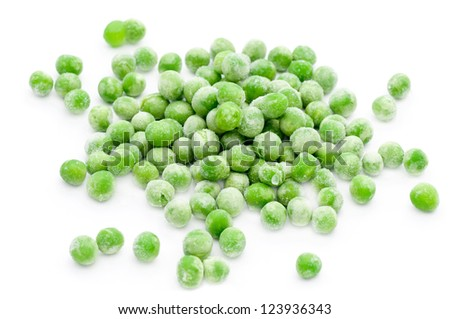 Frozen Green Peas - stock photo