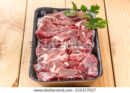frozen meat  - stock photo