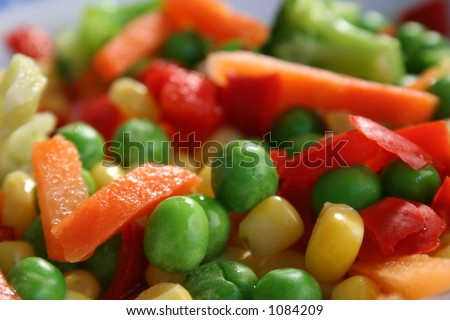 frozen mixed veg - stock photo