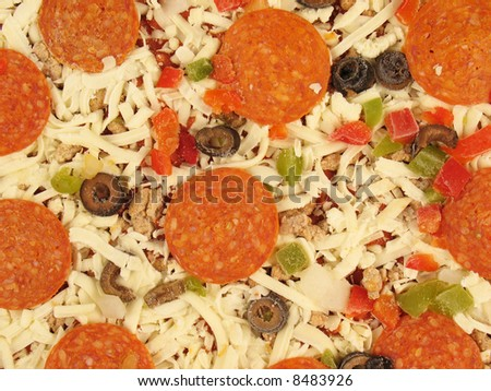 Frozen Supreme Style Pizza - stock photo